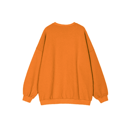 Orange NADIS Embroidery Oversized Sweatshirt | JessicaBuurman