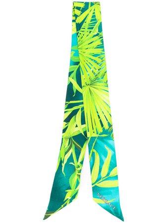 Versace Leaf Print Hair Tie IBA0005A234781 Green   Farfetch