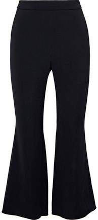 Stretch-crepe Kick-flare Pants
