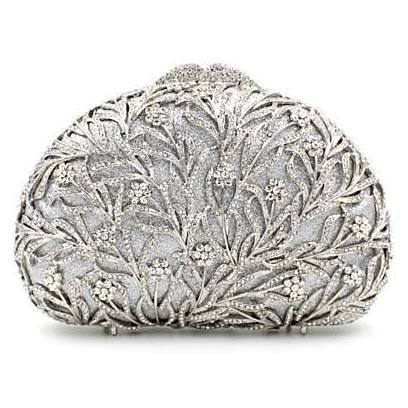 designer purse clutch silver - Google Search