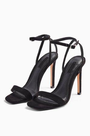 SASKIA Black Skinny 2 Part Heels | Topshop