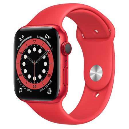 AppleWatch Series 6 GPS + Cellular, 44mm PRODUCT(RED) Aluminum Case with PRODUCT(RED) Sport Band - Regular - Apple