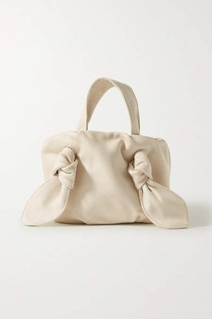 Ronnie Knotted Leather Tote - Cream