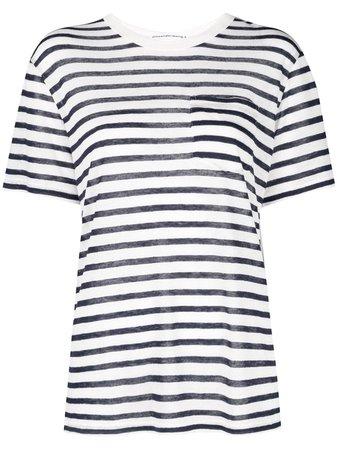 T By Alexander Wang Striped T-shirt - Farfetch