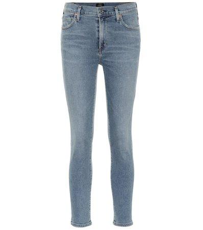 Rocket Crop high-rise skinny jeans