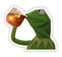 Kermit spills the TEA! Sticker