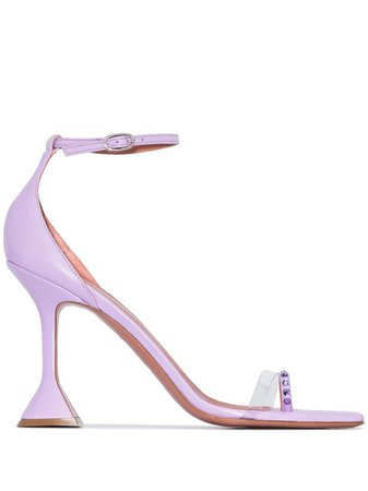 Amina Muaddi Oya 95Mm Crystal-Embellished Sandals