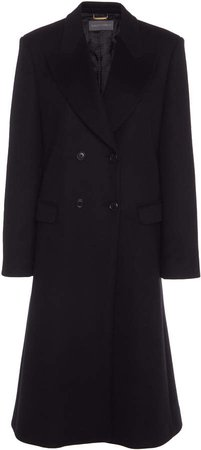 Alberta Ferretti Double-Breasted Wool-Blend Coat
