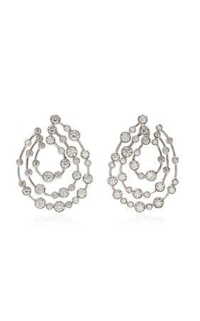 18K White Gold Diamond Earrings by Ruth Grieco | Moda Operandi