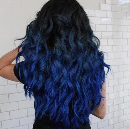 Black Blue Hair