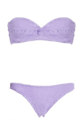Ariel Seersucker Bikini By Hunza G | Moda Operandi