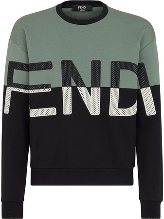 Shop Fendi logo-embroidered sweatshirt with Express Delivery - FARFETCH