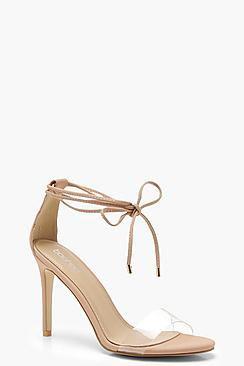 Tia Wrap Ankle Clear Strap Sandals