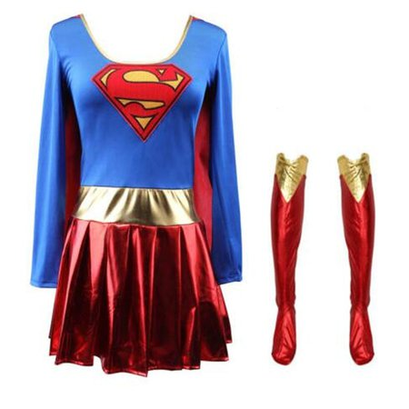 Superwoman Dress Superman Cosplay Costumes For Adult and Girls Halloween Super Girl Suit Superhero Wonder Woman Super Hero-in Movie & TV costumes from Novelty & Special Use on Aliexpress.com | Alibaba Group