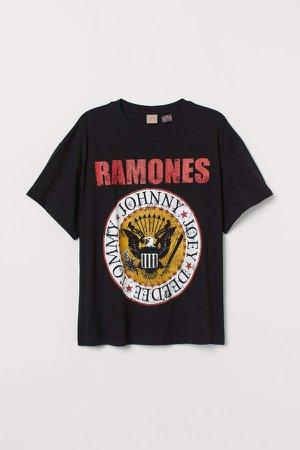 H&M+ Oversized T-shirt - Black