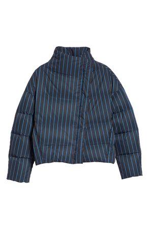 Theory Asymmetrical Stripe Puffer Jacket | Nordstrom