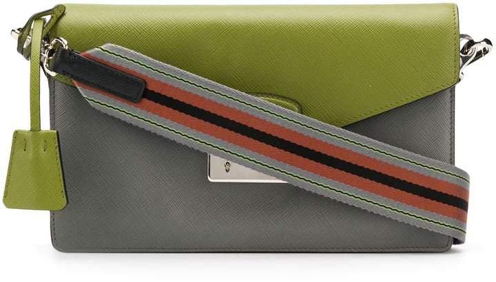 Two-Tone Shoulder Bag