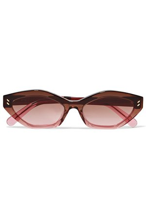 Stella McCartney | Cat-eye dégradé bio-acetate sunglasses | NET-A-PORTER.COM