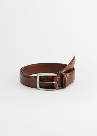 Leather belt - Man | Mango Man Denmark