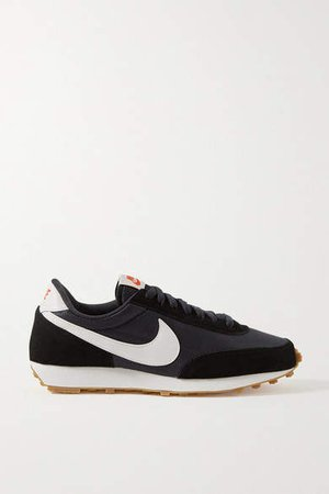Daybreak Shell, Suede And Leather Sneakers - Black