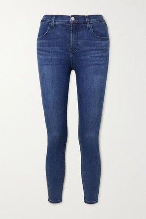 Mid denim Alana cropped high-rise skinny jeans | J Brand | NET-A-PORTER