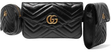 Gg Marmont Quilted Leather Belt Bag - Black