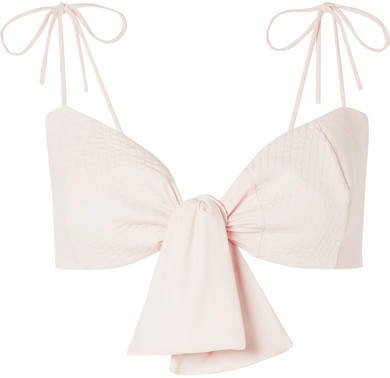 Celebrity Eclipse Knotted Bikini Top - Pastel pink