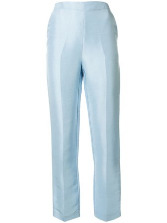 Shop blue Macgraw Non Chalant silk trousers with Express Delivery - Farfetch