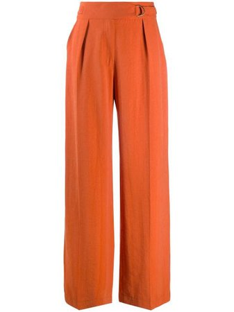 Shop orange Nanushka Ottolie wide leg trousers with Express Delivery - Farfetch