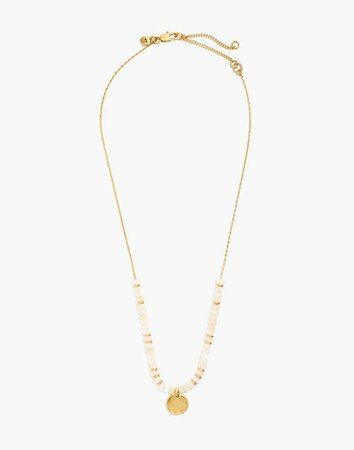 Bead Disc Charm Necklace golden