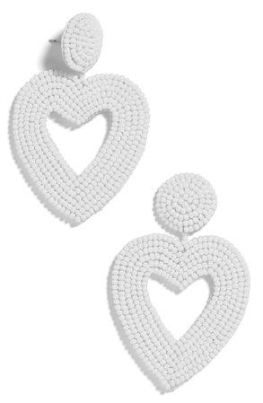 BaubleBar Vionnet Beaded Heart Drop Earrings | Nordstrom