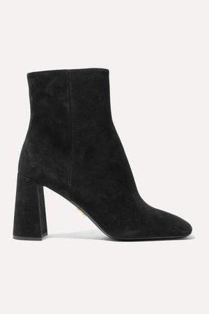 85 Suede Ankle Boots - Black