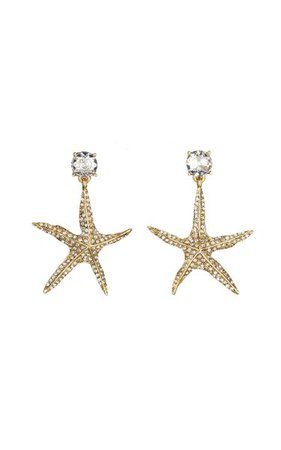 14k Gold-Plated Star Drop Earrings By Oscar De La Renta | Moda Operandi