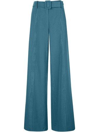 Oscar De La Renta Belted Wide Leg Trousers - Farfetch