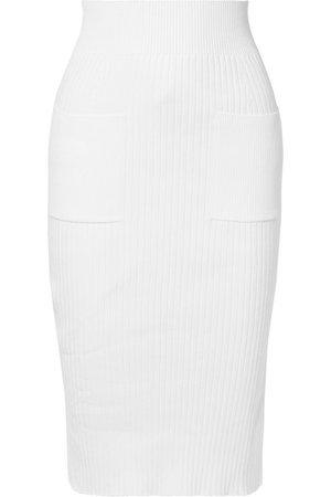 Courrèges | Ribbed cotton-blend pencil skirt | NET-A-PORTER.COM