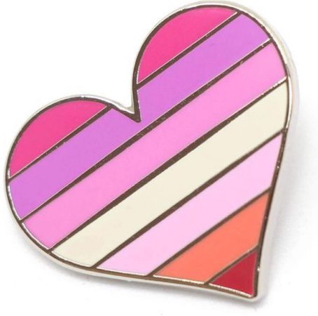lesbian flag heart