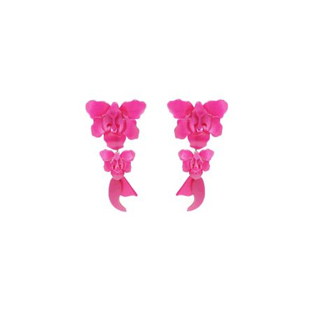 Acrylic Handmade Earring Orchid - Pink | Gissa Bicalho | Wolf & Badger