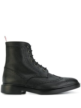 Thom Browne Wingtip Ankle Boots - Farfetch