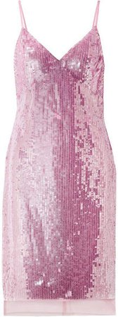 Marlane Sequined Tulle Dress - Pastel pink