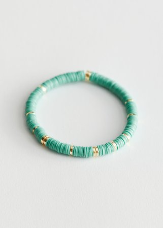 Beaded Bracelet - Turquoise - Bracelets - & Other Stories