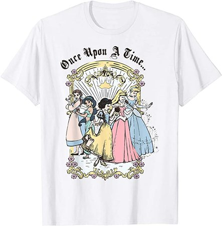 Amazon.com: Disney Princess Once Upon A Time Vintage Cartoon T-Shirt: Clothing