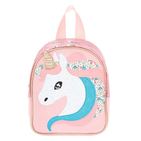 Claire's Club Unicorn Backpack - Pink | Claire's US