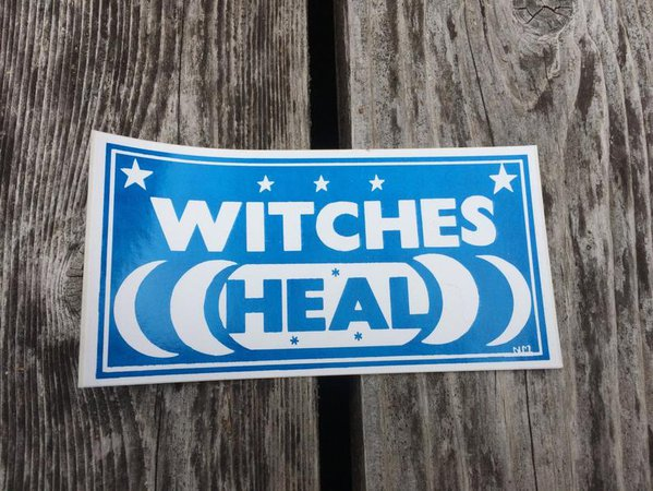 WITCHES HEAL Vintage Feminist Bumper Sticker | Etsy