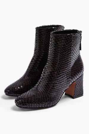 BELIZE Burgundy Smart Boots   Topshop