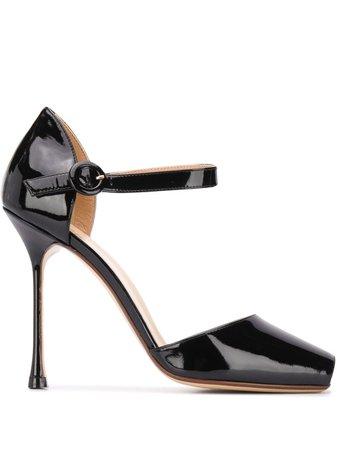 Francesco Russo patent open-toe pumps - FARFETCH