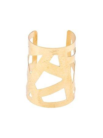 Josie Natori Geometric Cuff Bracelet X11184 Gold | Farfetch