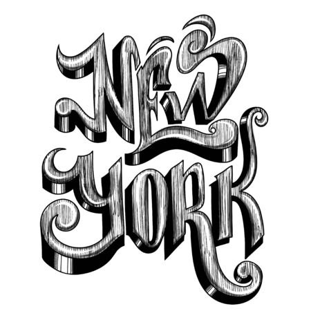 Conceptual Handwritten Phrase New York City On A White Background... Stock Photo, Picture And Royalty Free Image. Image 56500363.