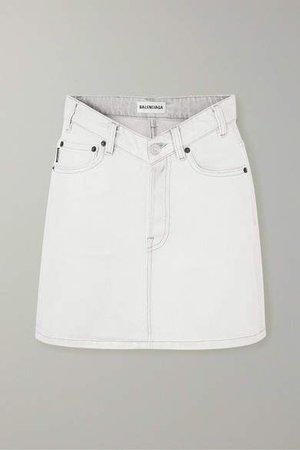 Denim Mini Skirt - Gray