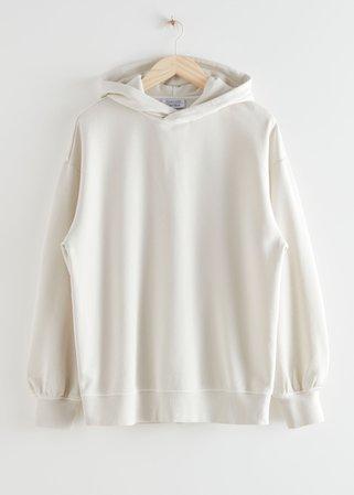 Oversized Hooded Boxy Sweatshirt - Creme - Sweatshirts & Hoodies - & Other Stories