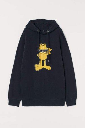 Oversized Sweatshirt Hoodie - Black